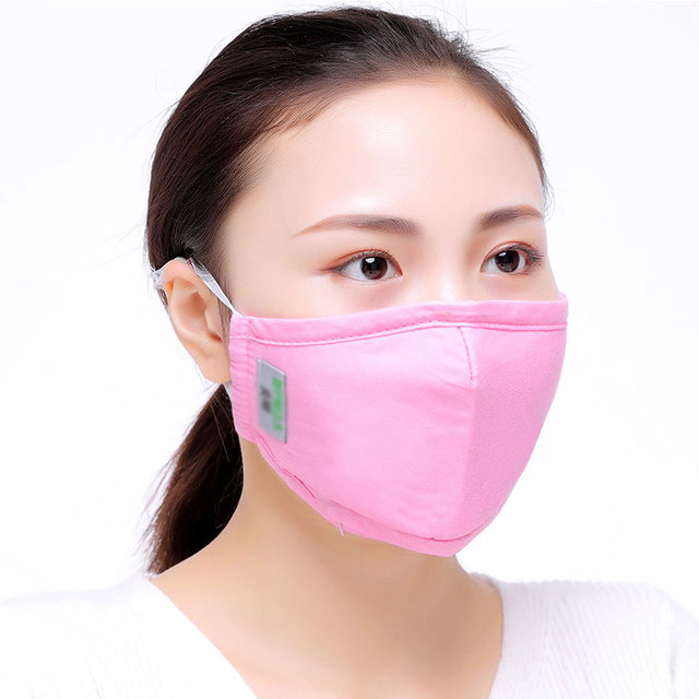 1Pc Cotton PM2.5 Anti Dust Activated Carbon Filter Bacteria Proof  Flu Mouth-muffle Unisex Women Men 5