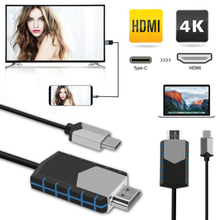 USB C To HDMI 4K Cable Adapter Type Thunderbolt 3 For Huawei Mate 20 MacBook Pro 2018 Galaxy S9 USB-C