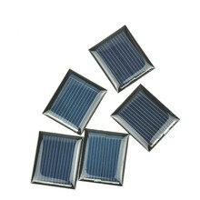 Купить с кэшбэком 10Pcs Mini Solar Panels 1V 80mA 30*25MM Solar Cells For DIY Scientific Experiment