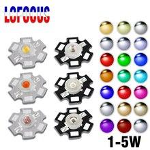 High Power LED COB Chip 1W 3W 5W Warm Cool White Rot Blau Grün Gelb Volle Spektrum 660nm 440nm Für Wachsen Licht Aquarium Lampen
