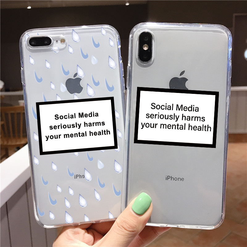 Social Media Seriously Harms Your Mental Health Case For Xiaomi Mi Redmi Note 8T 8 7 K30 K20 6 8A 7A 10 9T Pro 9 SE A3 A2 Lite 8