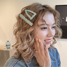 1 комплект, корейские блестящие хрустальные шпильки со стразами, геометрические прямоугольные, капли воды, имитирующие жемчуг, заколки для волос, аксессуары для волос, новинка