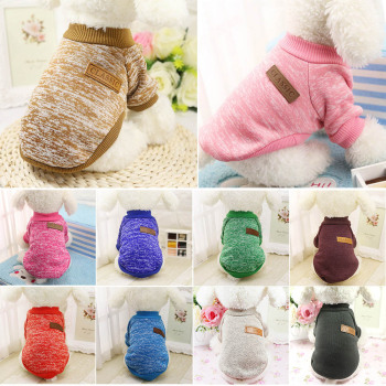 Warm Dog Clothes Puppy Pet Cat Clothes Sweater Jacket Coat Winter Fashion Soft For Small Medium Dogs Pug Chihuahua Bulldog image
