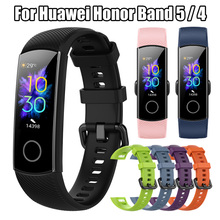 Watch-Band Sport-Wrist-Strap Honor Huawei Silicone Classic for 4 Replacement Soft Smart