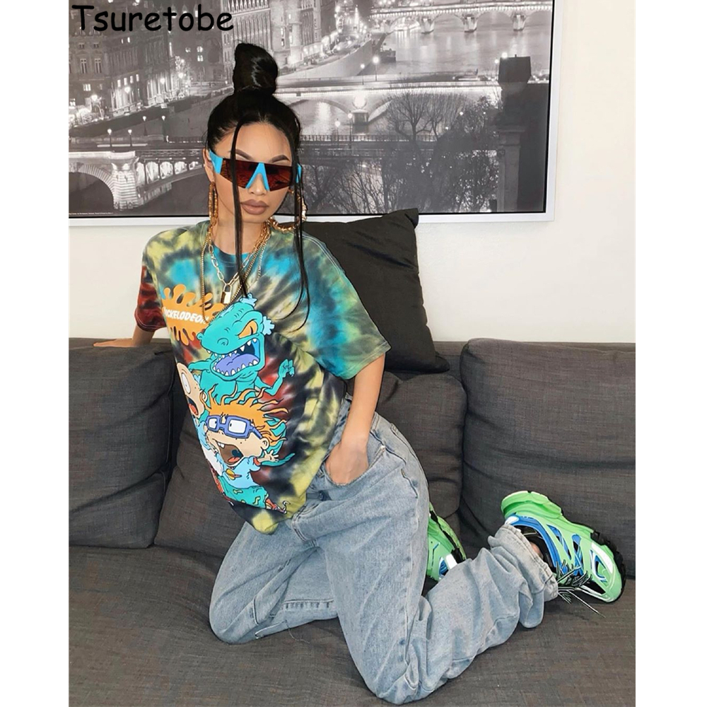 Tsuretobe Rick And Morty Graphic Tees Women Cartoon Print Tops 2020 New Arrival Fashion Shirts For Women Summer T Shirt Clothes