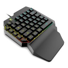 Waterproof Left Hand Colorful One-Handed Keyboard God Throne Left Hand Mechanical Feel Game Keyboard danny tobey god game