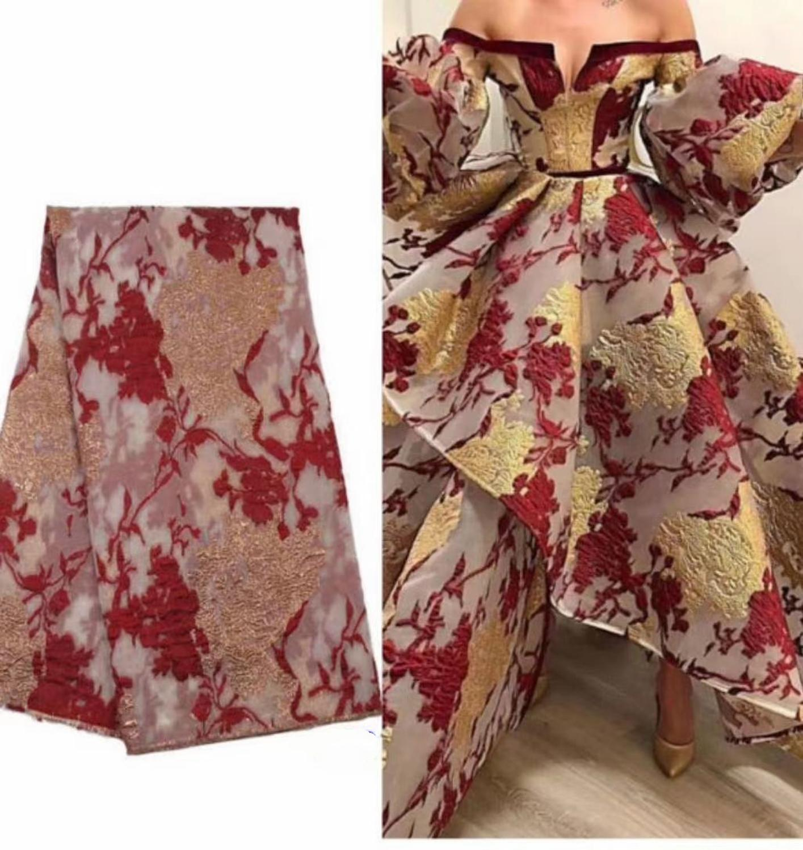 2020 französisch Spitze Stoff Hohe Qualität Afrikanische Brokat Jacquard Tuch Nigerian frauen Net Material Für Nähen Kleid POZ19