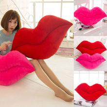 Soft Cushion Lip Shaped Plush Toy Throw Pillow DIY Car Sofa Chair Decorations