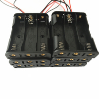 20pcs lot MasterFire 20pcs/lot 3 Slots AA Batteries Holder Box For 3 x AA Black With Wire Leads Plastic Battery Storage Case (4)