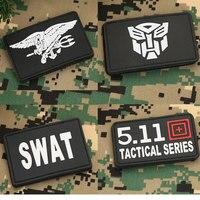 Sprawdzanie 5 sztuk transformatory SWAT SEAL taktyczne łatka z pcv opaska wojskowa odznaka Morale do ozdoby odzieży aplikacja aplikacja na