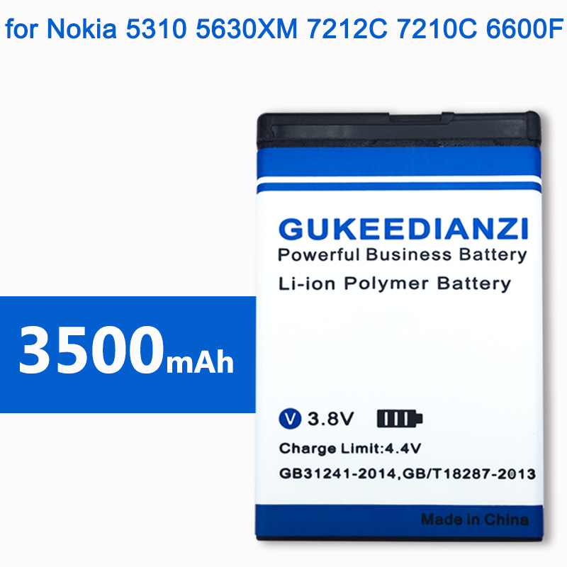 BL-4CT 100% New 3500mAh Li-ion Mobile Replacement Battery For Nokia 5310 6700S X3 X3-00 7230 7310C 5630 2720A 7210C 6600F(China)