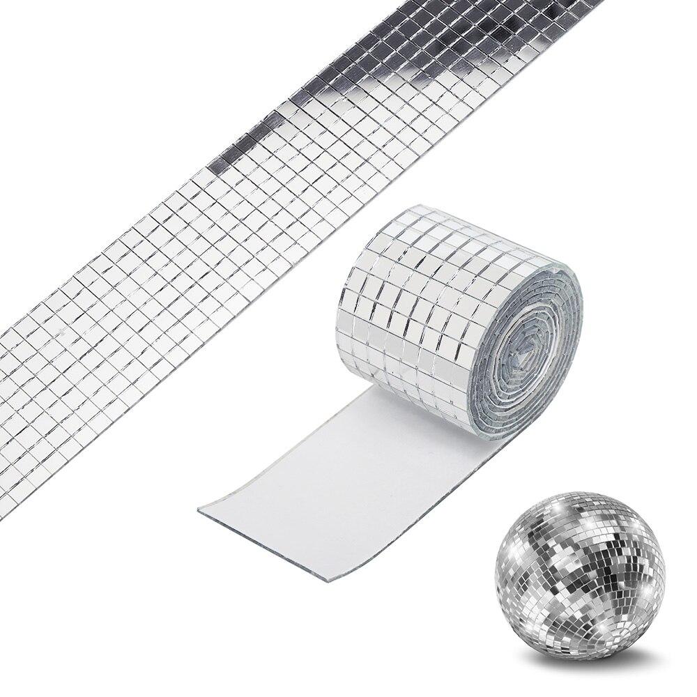 100 PCS Glass Mirror Mosaic Tiles Bulk Diamond Shape Decal Home Decor NEW