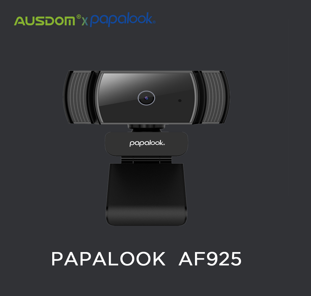 PAPALOOK AF925 1080P Full HD Autofocus Webcam With Noise Reduction Mic USB Web Camera Video Conference For Laptop Computer