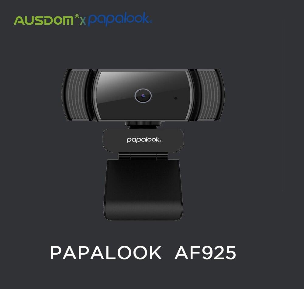 Papalook af925 1080 p hd completo autofoco webcam com redução de ruído mic usb web camera vídeo conferência para computador portátil