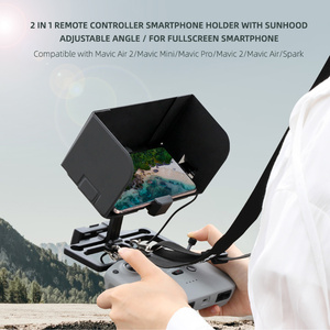 Image 2 - 2 In 1 Multifunctionalผู้ถือโทรศัพท์Sun HoodปรับมุมClampโทรศัพท์สำหรับDJI Mavic Air 2/ Mini/ Pro/Air/ Spark /Mini 2