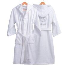 Высококачественный мужской зимний банный халат, мужской длинный толстый теплый махровый халат, халат для пар, домашний банный халат с капюшоном