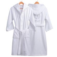عالية الجودة الرجال الشتاء Bathrobe الذكور طويلة سميكة الدافئة تيري منشفة روب للنوم زوجين المنزل مقنعين أردية الحمام