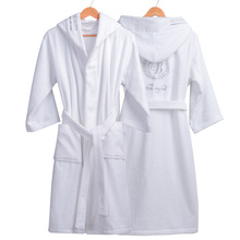 High Quality Mens Winter Bathrobe Male Long Thick Warm Terry Towel Dressing Gown Couple Home Hooded Bath Robes