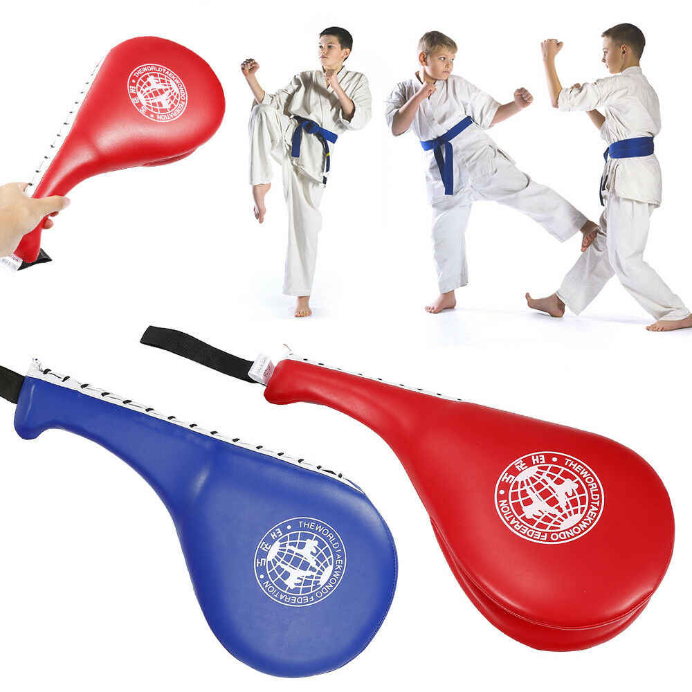 Taekwondo Double Kick Pad Target Foot Target Fitness Training Boxing Children US