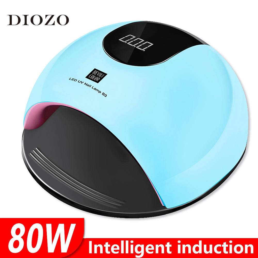 DIOZO Lamp For Manicure 80W 36Pcs Double Light UV Led Lamp Infrared Sensor All Gel Dry Quickly Manicure Lamp For Gel Nail Polish