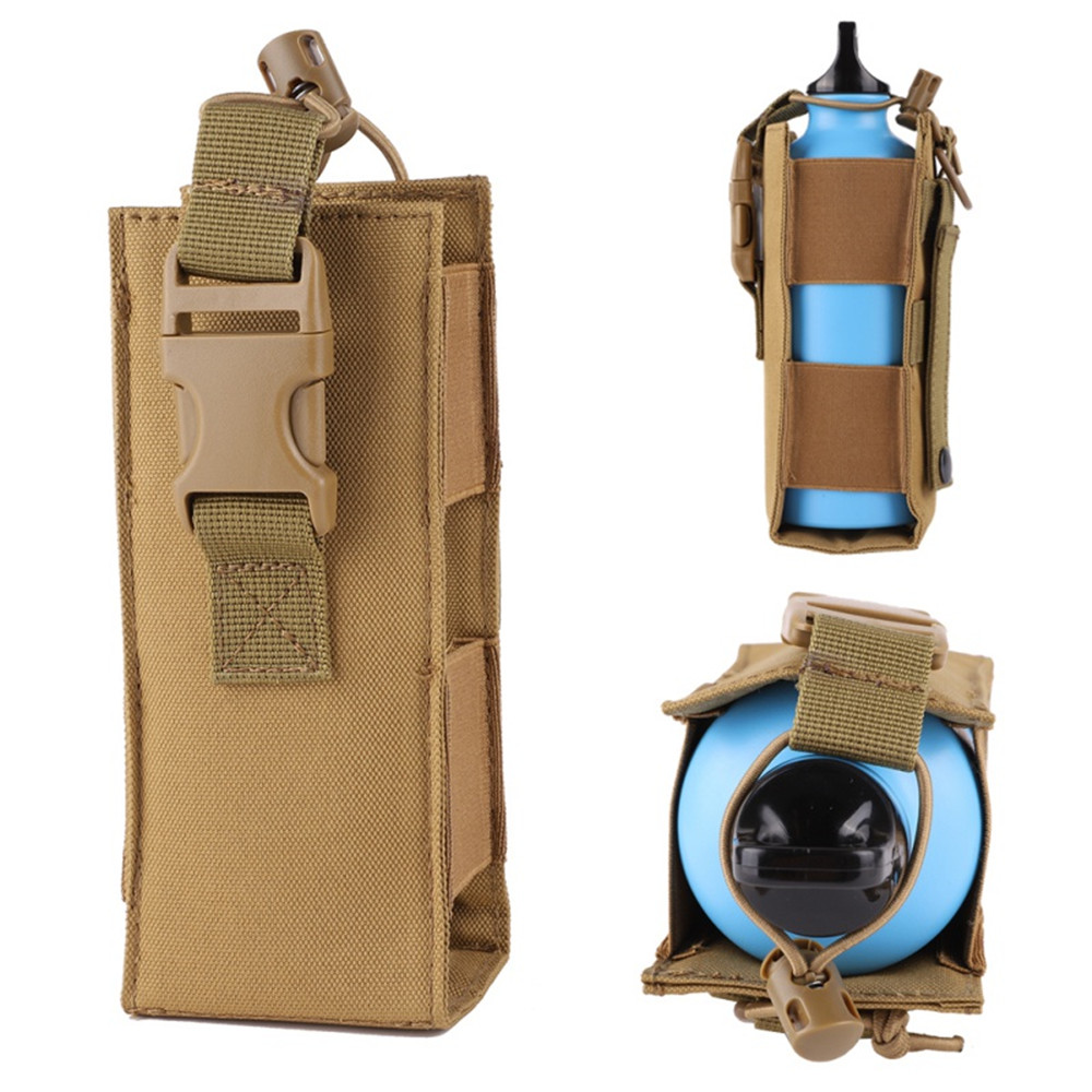 600D Nylon Oxford Cloth Water Bottle Pouch Tactical Molle Military Canteen Cover Holster Outdoor Travel Kettle Bag