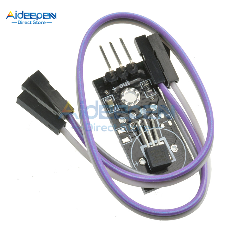 DC 5V DS18B20 Temperature Measurement Module Board With Dupont Wire 18B20 Temperature Sensor Detection Board For Arduino