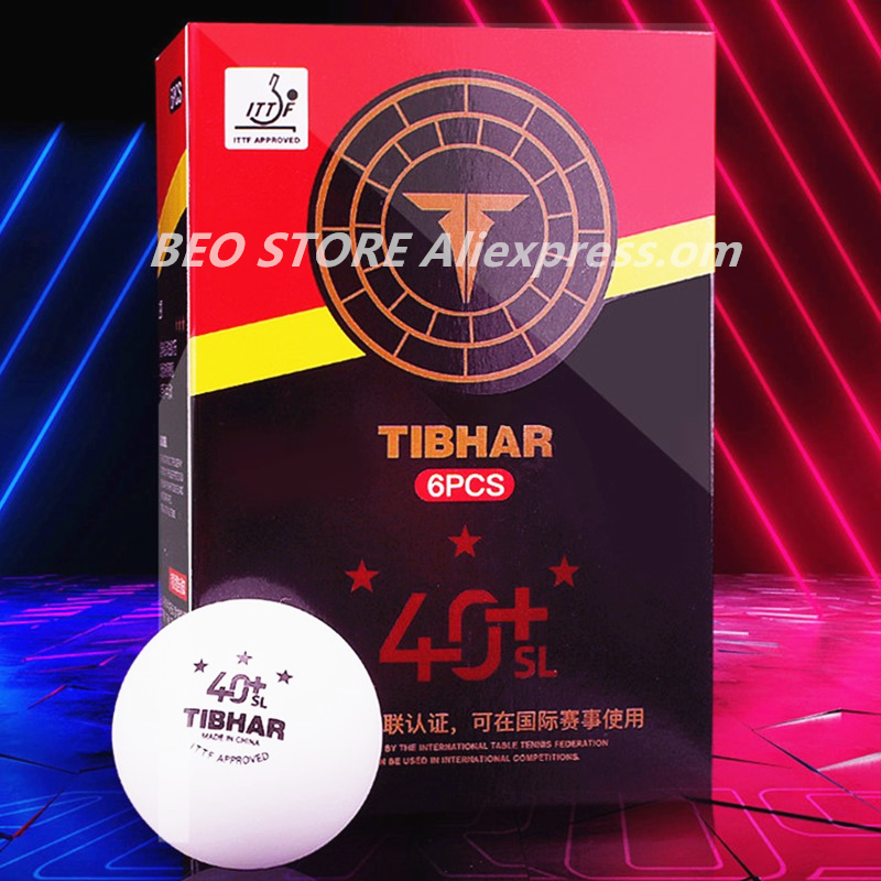 TIBHAR 3-star Seamless Table Tennis Ball 40+ New Plastic ITTF Approved Ping Pong Balls