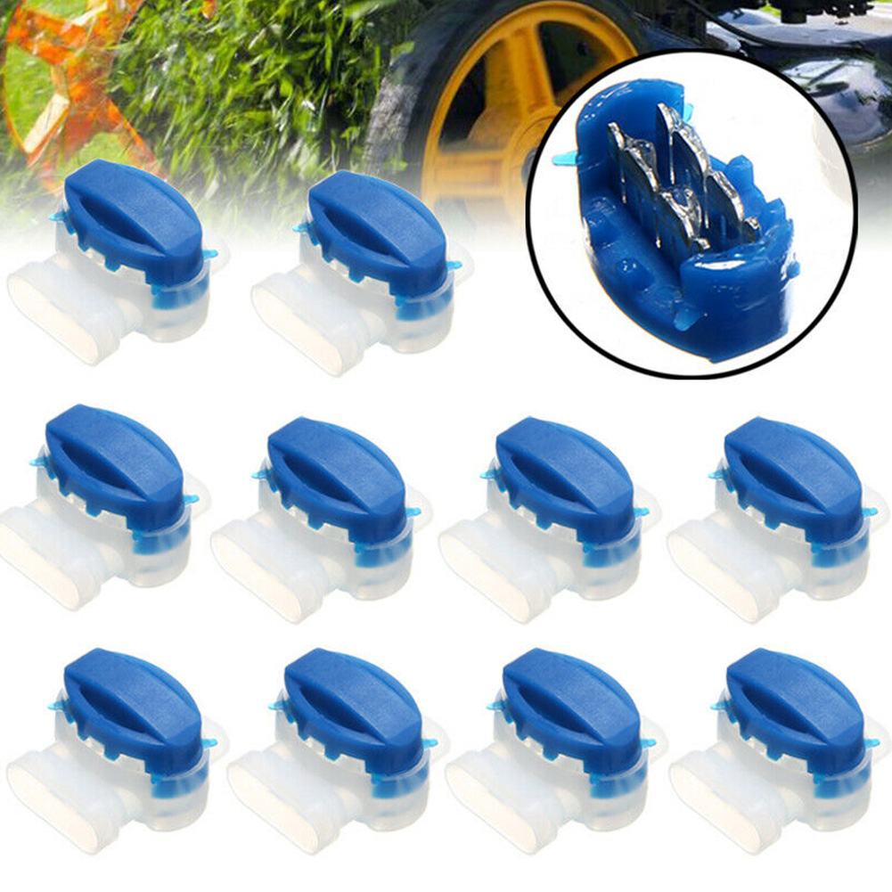 20pcs Outdoor Robotic Lawn Mower Applications 3-Way Irrigation Easy To Use Electrical Garden Automower Durable Wire Connector