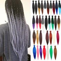 Kong & Li tressage cheveux pré-tendu en gros synthétique Ombre 26 pouces 95g africain EZ tresses Extension de cheveux
