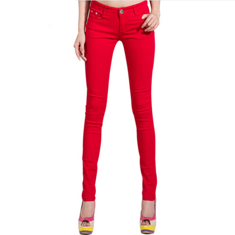 2019 Candy Color Women Jeans Pencil Pants Plus Size Stretch Jeans Leggings Female Trousers 25-34 Skinny Denim Jeans Pant