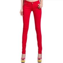 2019 Color caramelo mujer pantalones vaqueros lápiz más tamaño pantalones vaqueros elásticos Leggings pantalones femeninos 25-34 vaqueros ajustados pantalón