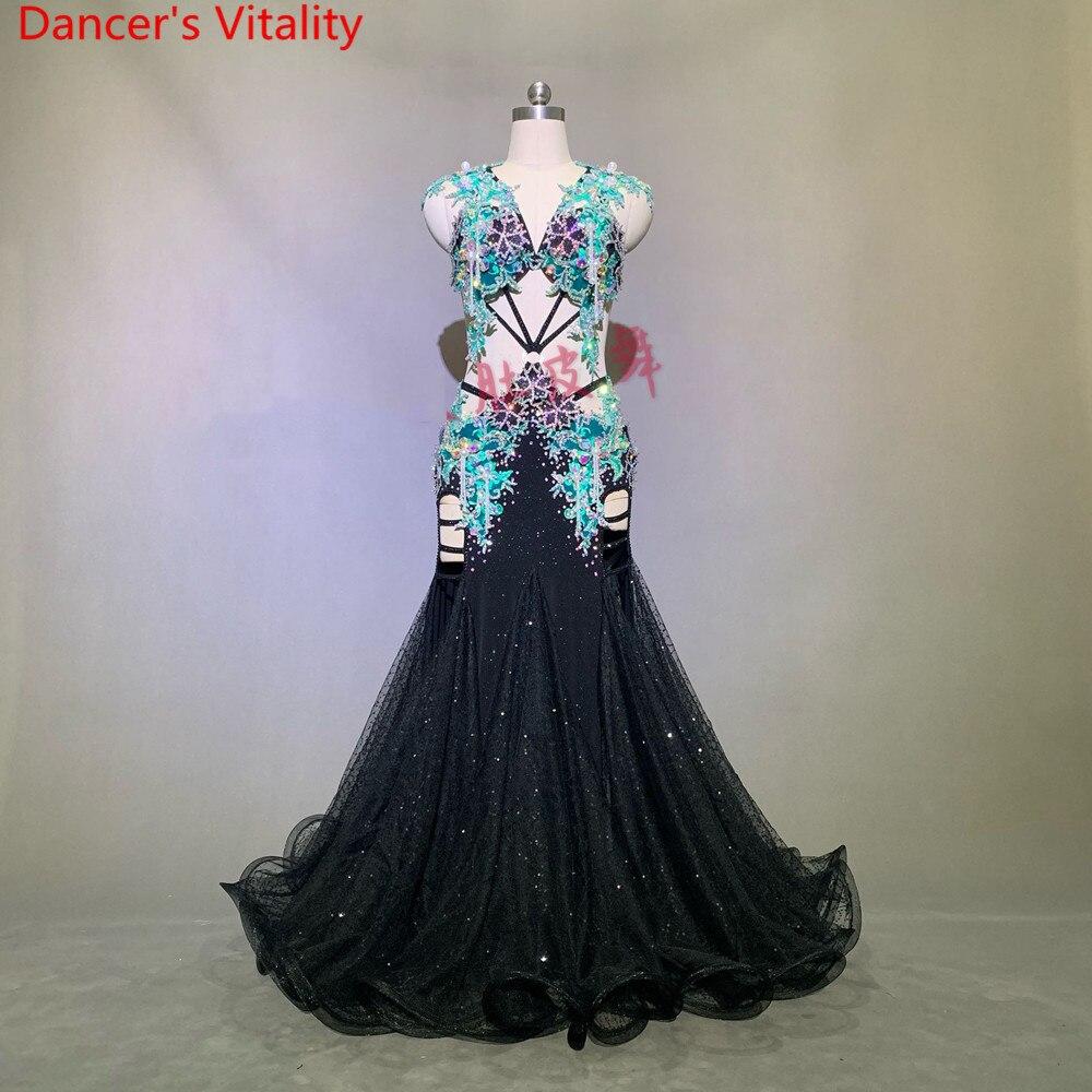 Luxurious Belly Dance Performance Costume Glitter Bead Bra Big Hem Skirt Set Women Lady Oriental Indian Dancing Stage Wear