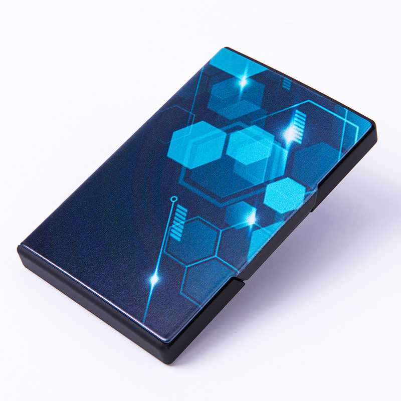 Bisi Goro Rfid Blocking Smart Wallet Metalen Visitekaartje Doos 2020 Fashion Visitekaartje Case Verschillende Patroon Credit Kaarthouder