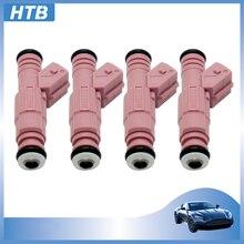 HTB de alta calidad boquillas del inyector de combustible para VOLVO L6 S80 C70 V70 S60 XC90 2.4L 2.5L 1999-2001, 0280155832 de 9186348 de inyección