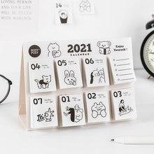 Criativo 2021 calendário de mesa semanal mini portátil 365 dias ano novo calendários de memorando agenda diária planejador