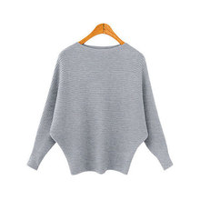 DUOUPA 2019 Autumn And Winter New Trend Loose Bat Sleeve Round Neck Solid Color Sweater Long Pullover Large Size Knitting