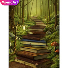 MomoArt Diamond Embroidery Ladder Of Knowledge Painting Landscape Mosaic Full Drill Square Wall Decoration