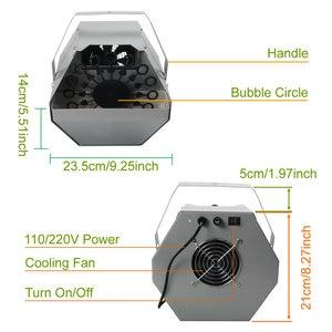 Image 2 - ควบคุมอัตโนมัติBubble Blower MakerปืนDJเวทีงานแต่งงานผลDecorเป่าฟองโฟมขวดอุปกรณ์