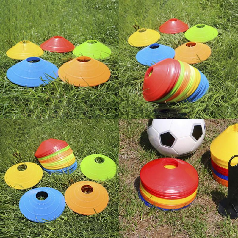 New 10PCS Outdoor Sport Football Soccer Rugby Speed Training Disc Marker Discs Marker Bucket PVC Sports Accessories