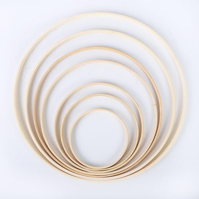 8-40 см деревянный каркас обод кольцо инструмент для вышивки обруча бамбуковый круг для вышивки крестиком ручной DIY Художественный инструмен...