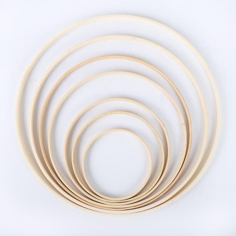 8-40cm quadro de madeira aro círculo bordado aro ferramenta círculo de bambu para ponto cruz mão diy arte artesanato ferramenta de costura