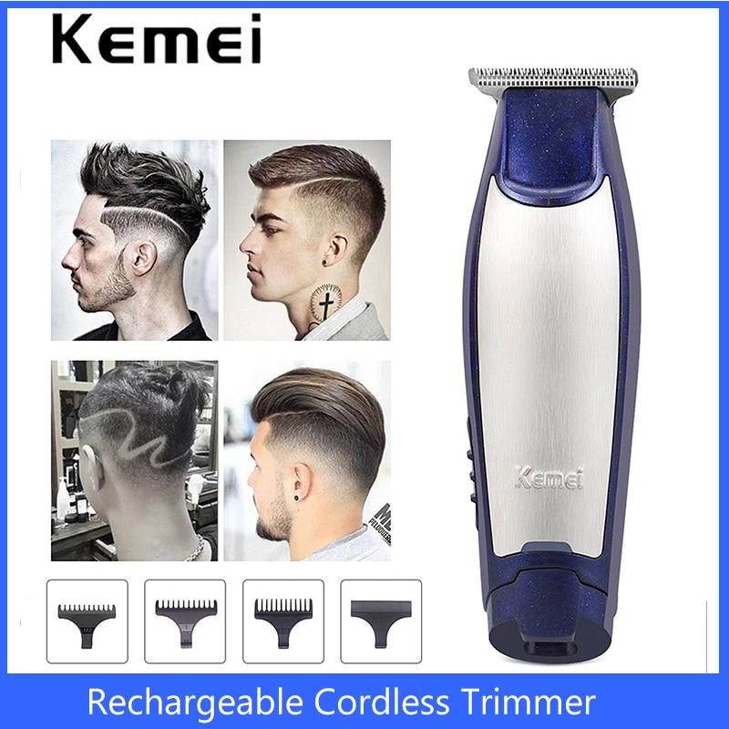 Kemei Hair Trimmer Professional Electric Hair Clipper Rechargeable Cordless Razor Barber Hair Cutting Haircut Machine Men Shaver