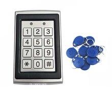 ゲートオープナードアオペレータロック125 125khzのアクセス制御キーパッドコントローラピンコードrfidカード防水、バックライトキーボード、金属ケース