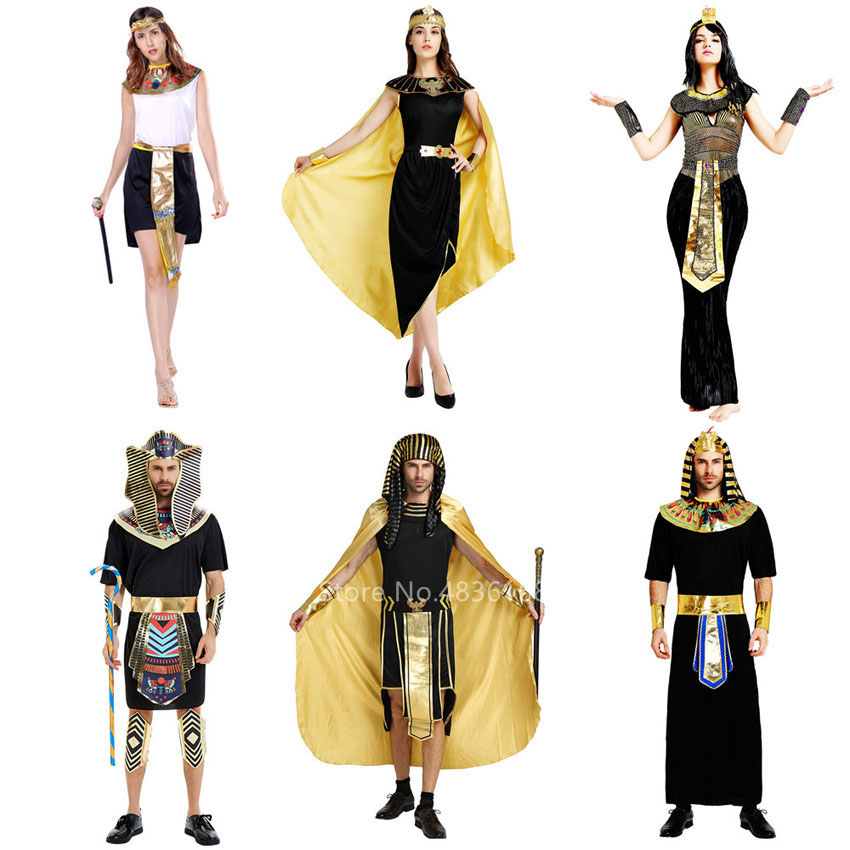 Unisex Adults Gold Egyptian Royalty Accessory Kit Egypt Pharaoh Queen