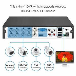 Image 5 - ZOSI 8 ערוץ TVI 4 IN 1 DVR H.265 + 1080p אבטחת CCTV DVR 8CH מיני היברידי HDMI DVR תמיכה אנלוגי/AHD/TVI/CVI מצלמה