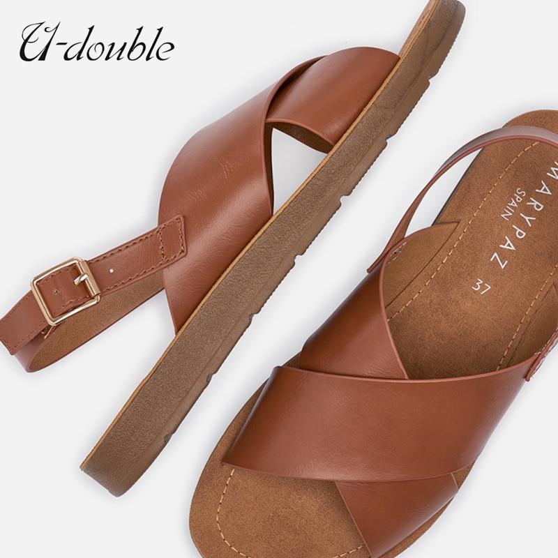 U-DOUBLE 2021 Women Shoes Open-Toed Lady Summer Sandals Hollow Out Women Sandals Outdoor Cool Shoes Women Beach Summer Sandal