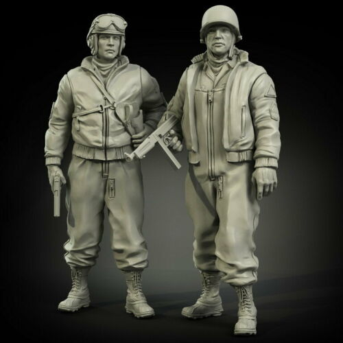 1/35  Ancient Us  Officers With Clothes Set Include 2 Resin Figure Model Kits Miniature Gk Unassembly Unpainted