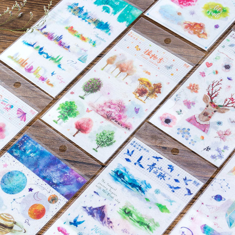 2pcs/pack Creative Paper Stickers DIY Dairy Stickers Scrapbooking Album Hand Account Diary Decoration Stickers Label