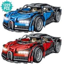 Famoso esporte carro bloco de construção super velocidade de corrida veículo simulação modelo tijolos brinquedos presente aniversário para o namorado