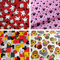 Cartoon Cute Mouse Fingers Cotton Fabric for Kids Clothes Home Textile Slipcover Sewing Quilting DIY Needlework Material